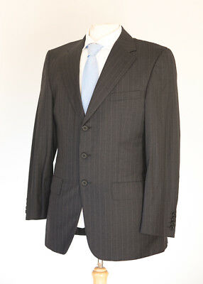 Chester Barrie Savile Row Men's Grey Pinstripe Suit 38L Dry-Cleaned