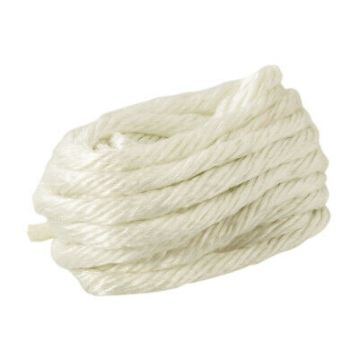 10mm x 5m Glass Rope Sealing Yarn - Boilers & Oven Fuses - 550 Degree Max