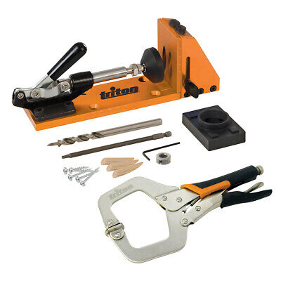 PREMIUM Pocket Hole Jig Set & Clamp - Angled Drilling Kit - 12mm to 38mm Boards