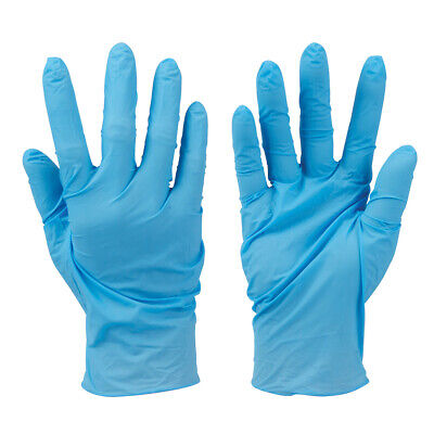 100x Disposable Nitrile Gloves -XL BLUE- Latex Free Food Preparation / Painting