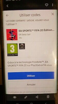 contenu additionnel Code Fut FIFA 20 Édition  FIFA Ultimate Team PS4 Playstation