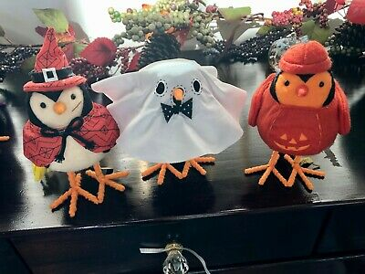 Lot of 3 Target Hyde and Eek Featherly Friends Birds Halloween