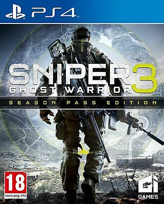 Sniper Ghost Warrior 3 Season Pass Edition PS4 Brand New Sealed Official