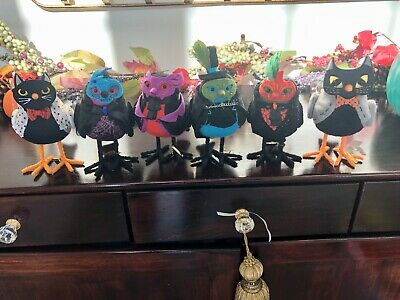 Lot of 6 Target Hyde and Eek Featherly Friends Birds Halloween  MASKED