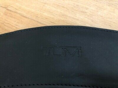 New Tumi Black Leather & Ballistic Nylon Adjustable Strap