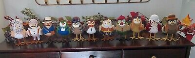 Lot of 11 Target Featherly Friends Birds FALL/THANKSGIVING