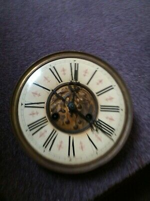DRGM Antique German Clock Movement Spare Parts Face Hands