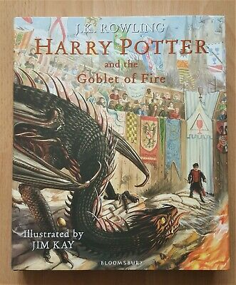 J.k. Rowling - Harry Potter And The Goblet Of Fire Illustrated 1St H/B & Tote B
