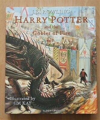 J.k. Rowling - Harry Potter And The Goblet Of Fire Illustrated 1St H/B & Tote C