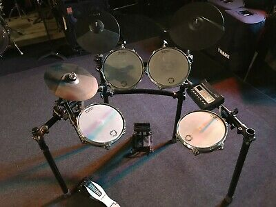 Roland TD-3 Electronic Drums with Pintech Drum Pads,Rack and Cables