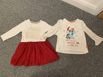 BNWOT New Infant / Toddler Girl Christmas Clothing - Age 1.5-2 Years