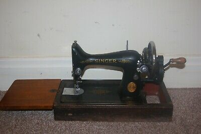 Vintage 99K Singer Sewing Machine 1941 Hand Crank Manual Wooden Case Mechanical