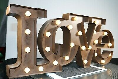 Marquee Light 'LOVE' Metal Sign Battery Operated