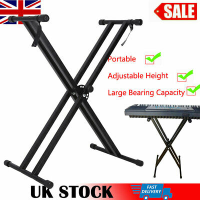 X Frame Keyboard Stand - Double Braced- Portable Strong & Adjustable Height