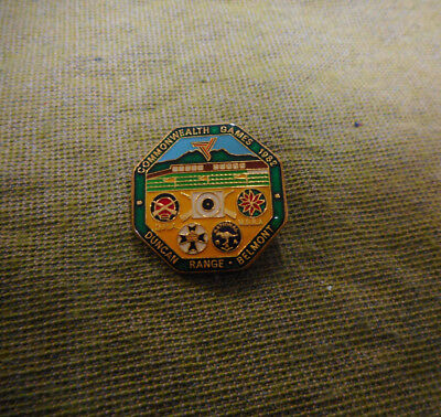 #D454.   1982 Commonwealth Games Belmont  Shooting Lapel Badge