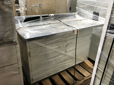 4' St Charles Laboratory Sink Cup Cabinet with Faucet