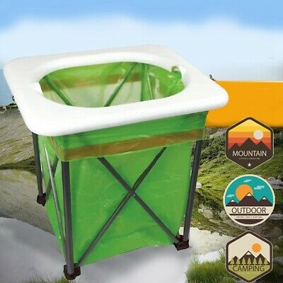 Portable Toilet Seat Camping Commode Folding Outdoor Travel Emergency Toilet
