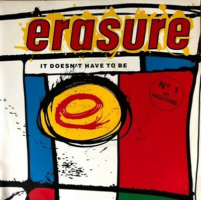 """Erasure - It Doesn't Have To Be - Vinyl 7"""" 45T (Single)"""