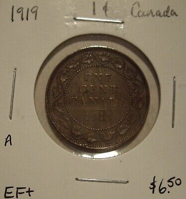 A Canada George V 1919 Large Cent - EF+