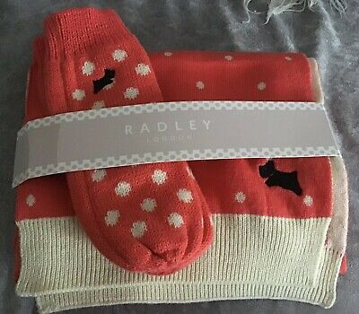 Bnwt Radley Scarf And Gloves Set New Gorgeous
