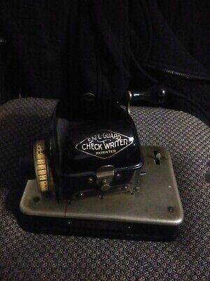 Antique/Vintage Safe-Guard Check Writer Model R 33504 early model  - SEE PICS