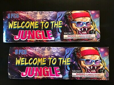 Welcome To The Jungle 2 pack Firework Labels