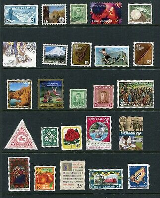 New Zealand Selection 3 Pages Assorted Stamps Used (CQ300)