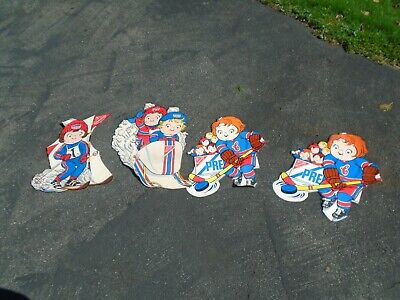 RARE 4 piece Campbell's Soup Kids Olympics Nabisco Premium Crackers Advertising