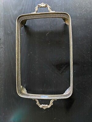 """SHEFFIELD SILVER CO. Footed Casserole Dish Holder 14.5"""" X 9.5"""" Silver Plated"""