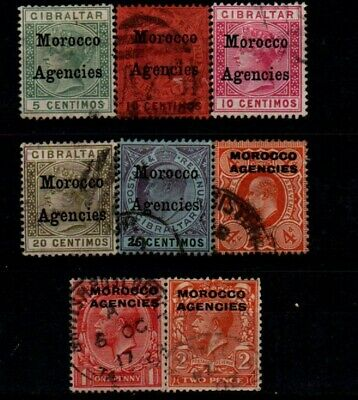 Very Old Stamps from British Offices in Morocco.