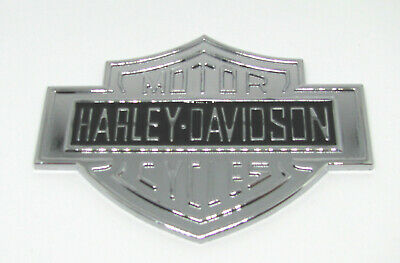 Harley Davidson Bar and Shield Metall Emblem -Chrom / Schwarz - Kleberücken