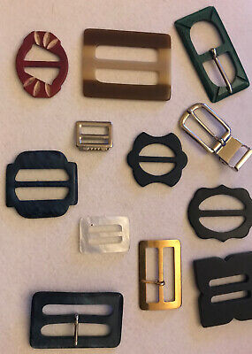 Selection Of 7 Vintage Clothes Buckles