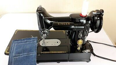 BEAUTIFUL Singer 222K FREE-ARM Electric Sewing Machine,FULL SERVICED, PAT TESTED
