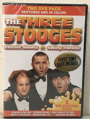 The Three Stooges: Classic Shorts / Swing Parade (Colorized and B&W NEW DVD