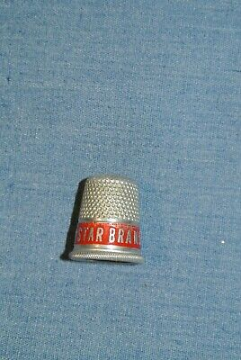 VINTAGE METAL Star Brand RED BAND SEWING THIMBLE