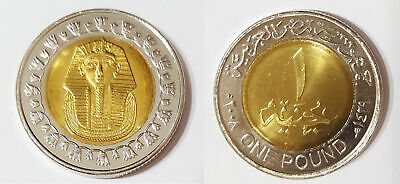 1 pound egypt king tut coin uncirculated