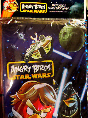 """Star Wars Angry Birds Stretchable Fabric Bookcover Fits Books over 8"""" x 10"""""""