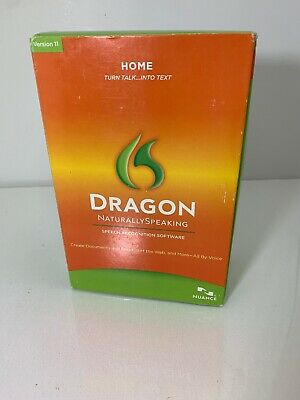 Dragon Naturally Speaking Speech Recognition Software Old Version 11 Nuance New