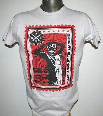 RAGE AGAINST THE MACHINE Postage STAMP T-SHIRT NWOT XS 2010 Concert RoCk RATM