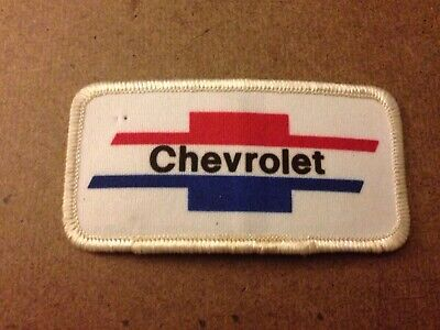 Vtg. Chevrolet Red White  Blue  BowTie Embroidered Chevy Patch Collector USA