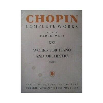CHOPIN Frédéric Works for Piano Orchestra partition sheet music score