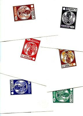 Cambodge Cambodia Football Munich 74 FIFA 6 colors x Proofs Epreuves Atelier RRR