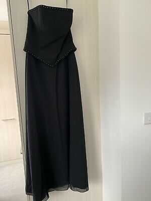 black evening dress size 14