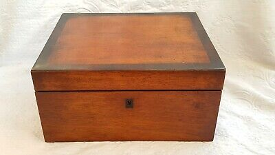Antique-Victorian Flame Mahogany/Rosewood Edged Writing Box/Slope-circa 1880's