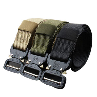 Tactical Belt Military Nylon Automatic Metal Alloy Buckle Men's Fashion UKHC