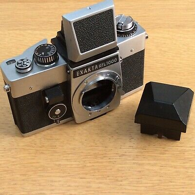 Vintage EXAKTA RTL1000 SLR Film CAMERA Waist Level + Pentaprism Finders