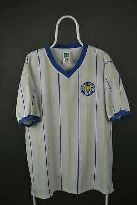 Leeds United 1981/1984 Home Football Retro Replicas Shirt  Score Draw Sz XL