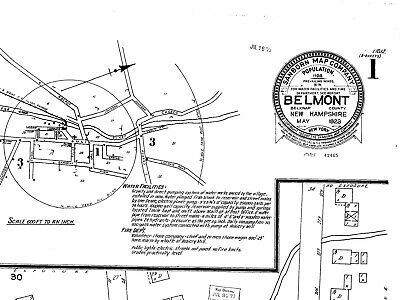 Belmont, New Hampshire~Sanborn Map© sheets~~3 maps made in 1923