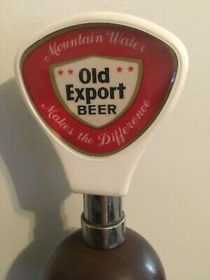 Vintage Old Export Beer Tap Knob, Handle, Mountain Water Makes The Difference