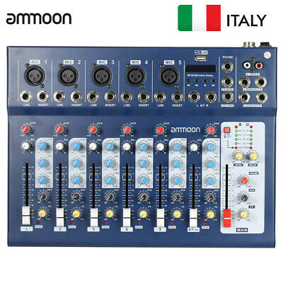 7-Channel Digital Mic Line Audio Sound Mixer  Mixing Console With Usb Input X5F5